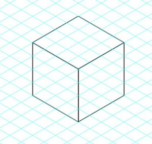 Vous vous souvenez les cubes que vous dessiniez à l'école sur votre cahier à carreaux.